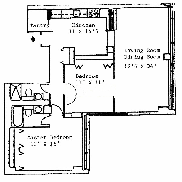 1540 N State Floorplan - D Tier*