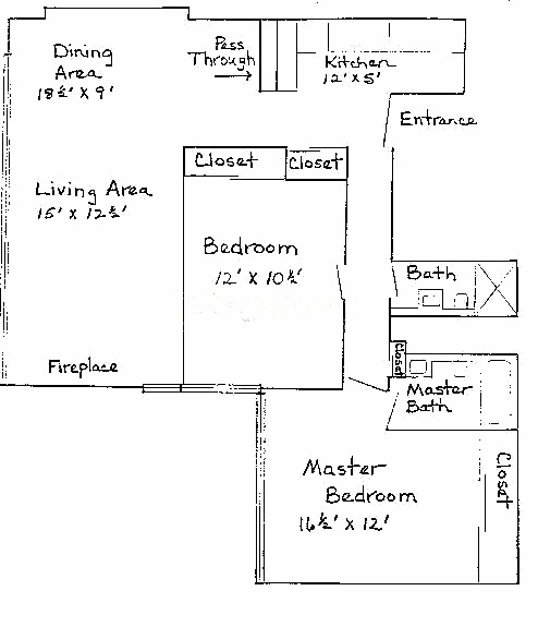 1540 N State Floorplan - A Tier*