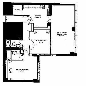 1540 N State Floorplan - B Tier