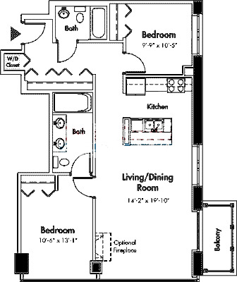 1845 S Michigan Floorplan - 05 Tier*