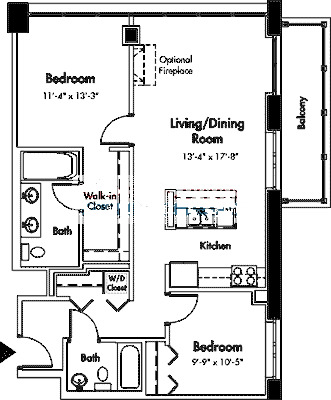 1845 S Michigan Floorplan - 06 Tier*