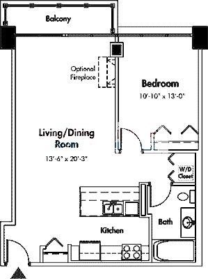 1845 S Michigan Floorplan - 09 Tier*