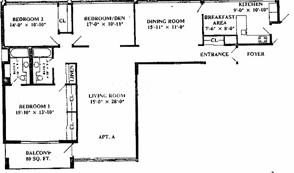 1 E Schiller Ave Floorplan - A Tier