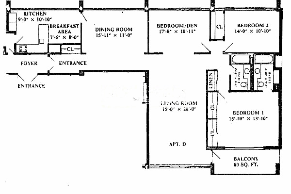 1 E Schiller Ave Floorplan - D Tier