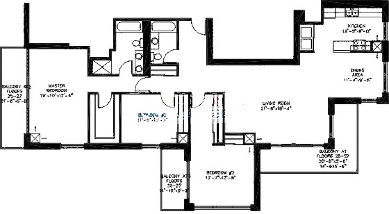 200 W Grand Ave Floorplan - Penthouse 01 Tier*