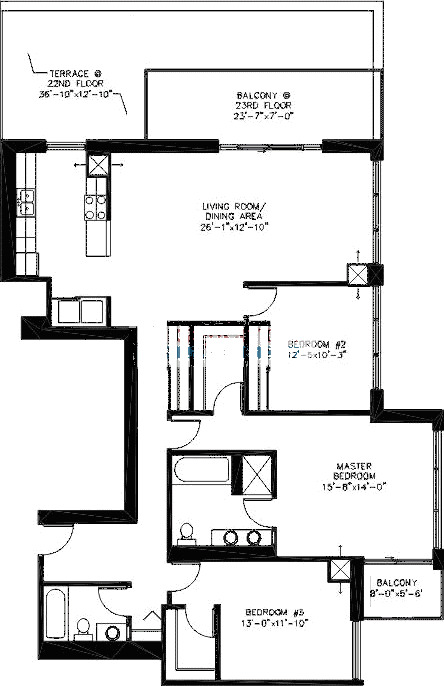 200 W Grand Ave Floorplan - A01 Tier*