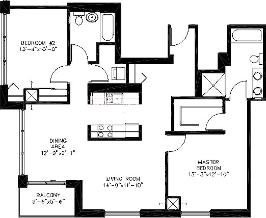 200 W Grand Ave Floorplan - A02 Tier*