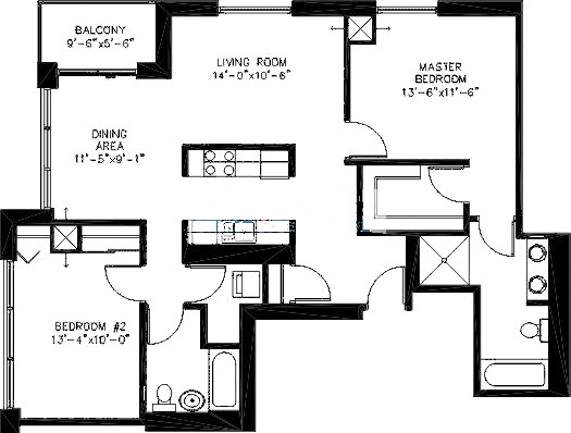 200 W Grand Ave Floorplan - A03 Tier*