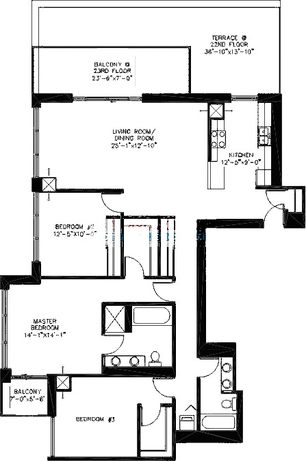 200 W Grand Ave Floorplan - A04 Tier