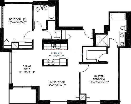 200 W Grand Ave Floorplan - T03 Tier*