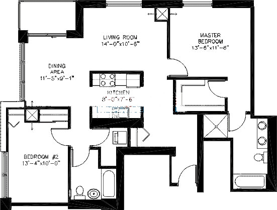 200 W Grand Ave Floorplan - T04 Tier