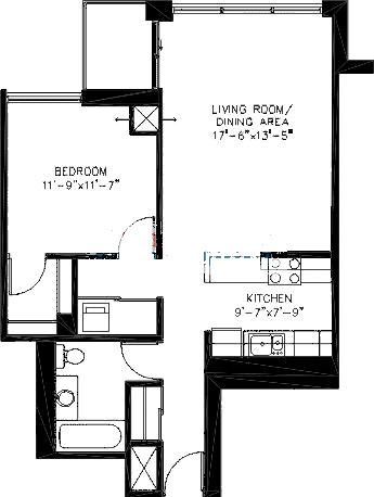 200 W Grand Ave Floorplan - T05 Tier