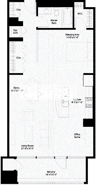 240 E Illinois Floorplan - 03,04,05 Tier