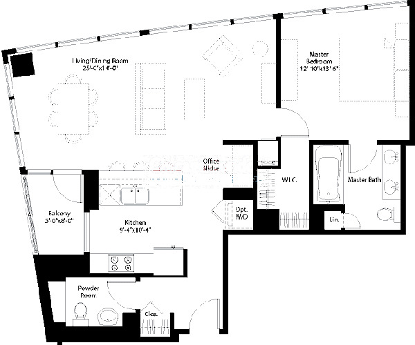 240 E Illinois Floorplan - 02,10 Tier
