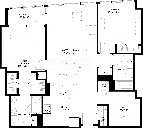 240 E Illinois Floorplan - 04,08 Tier
