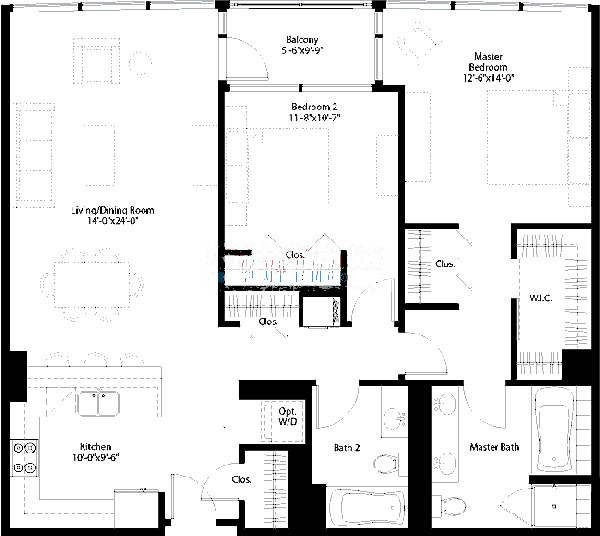 240 E Illinois Floorplan - 06 Tier