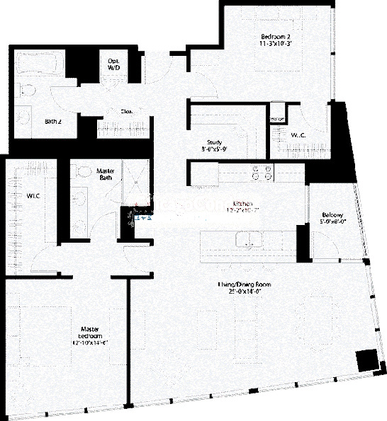 240 E Illinois Floorplan - 09,11 Tier