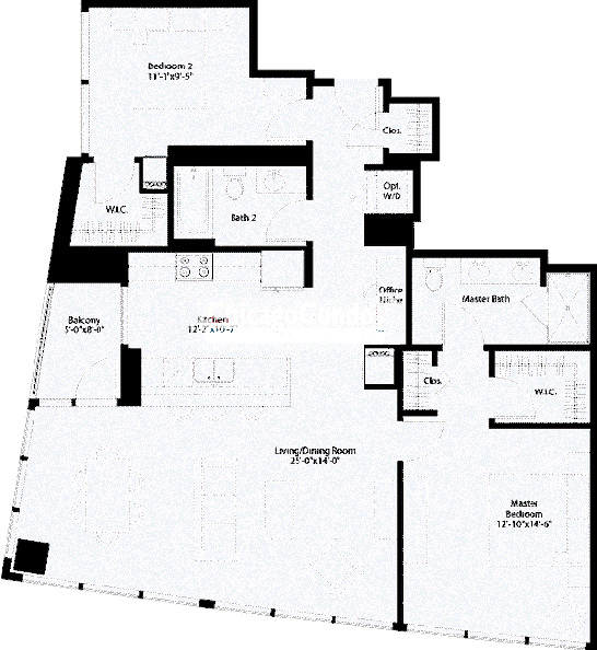 240 E Illinois Floorplan - 01 Tier