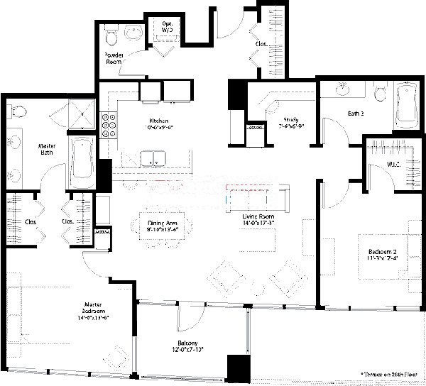 240 E Illinois Floorplan - 03 Tier