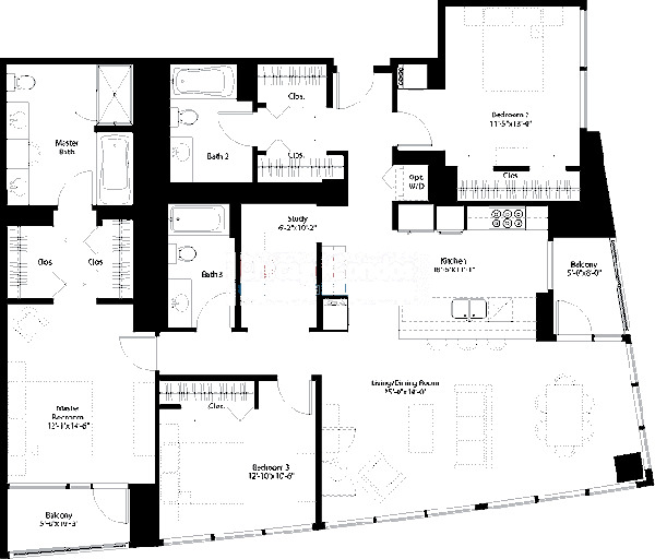 240 E Illinois Floorplan - 07 Tier*