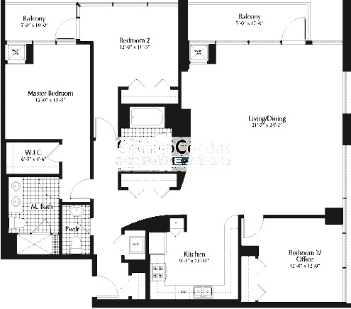 303 W Ohio Floorplan - 01, 02 Tiers