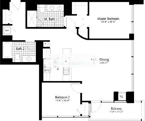 303 W Ohio Floorplan - 03 Tier