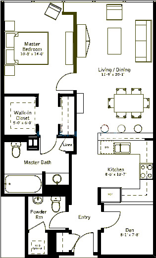 500 W Superior Floorplan - Plaza A Tier*