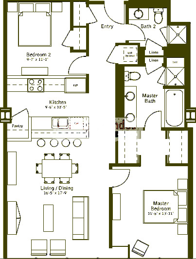 500 W Superior Floorplan - Plaza C (07) Tier