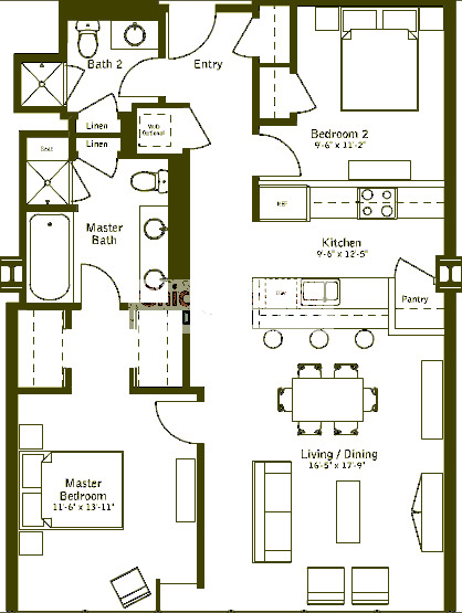 500 W Superior Floorplan - Plaza C (09) Tier