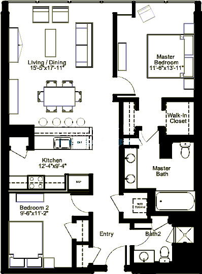 500 W Superior Floorplan - Plaza C1 Tier*