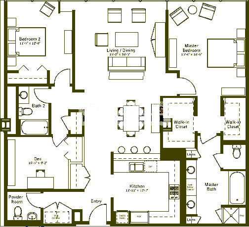 500 W Superior Floorplan - Premier E1 Tier