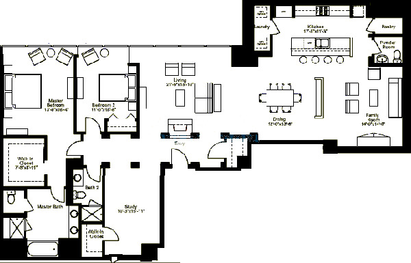 500 W Superior Floorplan - Premier F (10 & 12) Tier
