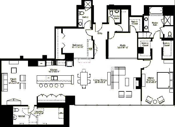 500 W Superior Floorplan - Premier G1 (03) Tier*