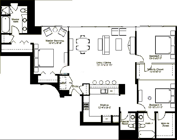 500 W Superior Floorplan - Skyview D3 (02) Tier*