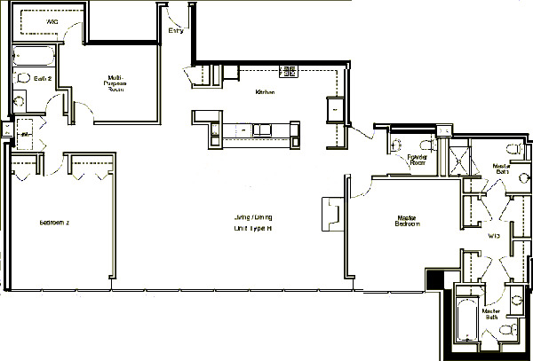 500 W Superior Floorplan - Skyview H Tier*