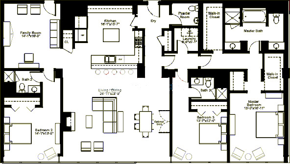 500 W Superior Floorplan - Skyview J (03) Tier*