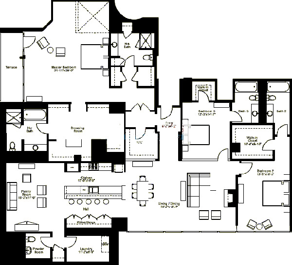 500 W Superior Floorplan - Skyview K Tier*