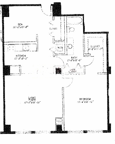 5 N Wabash Floorplan - E Tier*