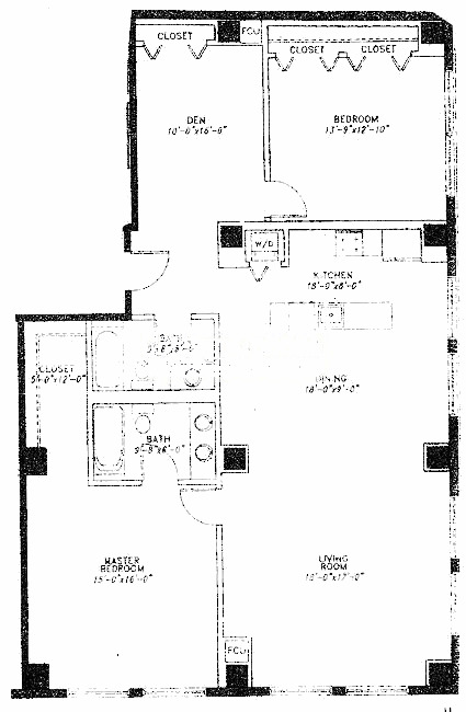 5 N Wabash Floorplan - F Tier*