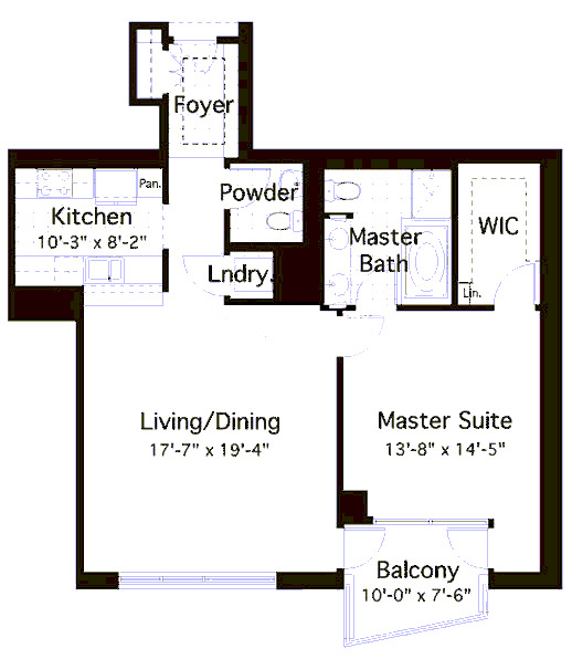 600 N Lake Shore Drive Floorplan - 03 North Tier