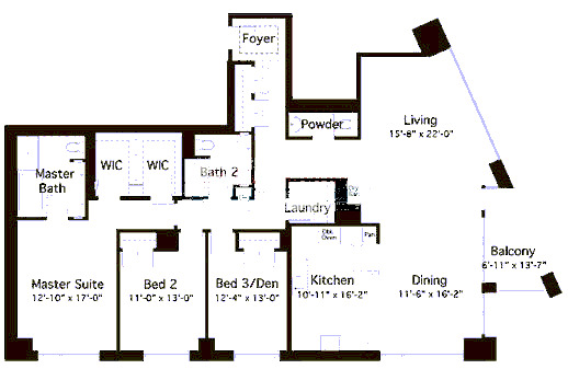 600 N Lake Shore Drive Floorplan - 04 North Tier