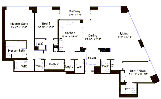 600 N Lake Shore Drive Floorplan - 05 North Tier