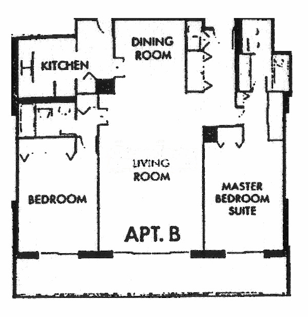 1212 N Lake Shore Drive Floorplan - B Tier