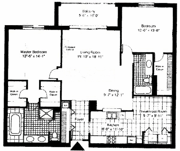 55 W Delaware Floorplan - Fairbanks*