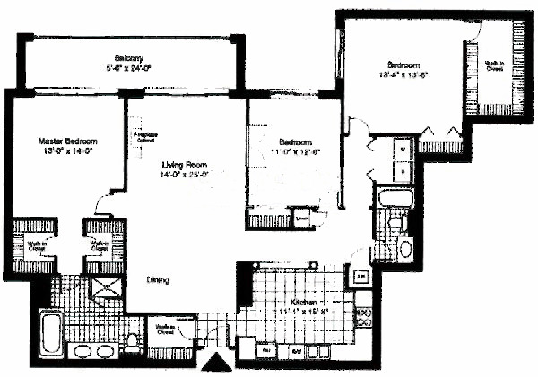 55 W Delaware Floorplan - Jefferson