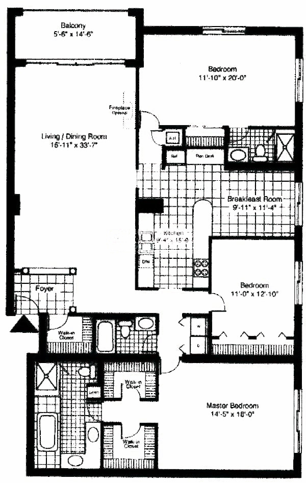 55 W Delaware Floorplan - Lincoln