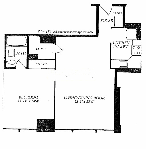 253 E Delaware Floorplan - C and F Tiers