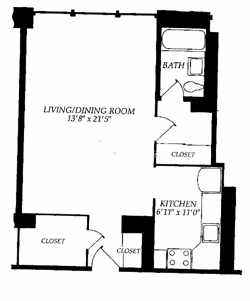 253 E Delaware Floorplan - D and E Tiers*