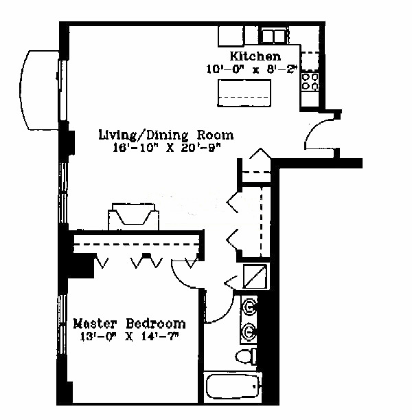 1122 N Dearborn Floorplan - D Tier*