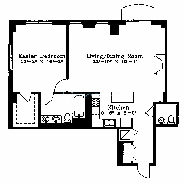 1122 N Dearborn Floorplan - E Tier*